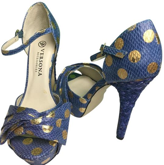 Preload https://item4.tradesy.com/images/versona-blue-gold-dotted-platforms-size-us-65-regular-m-b-21569408-0-1.jpg?width=440&height=440