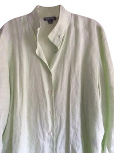 Go Silk Button Down Shirt Green