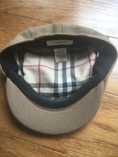 Burberry Burberrys London Wool cotton Nova check Cabbie Hat Made in England S