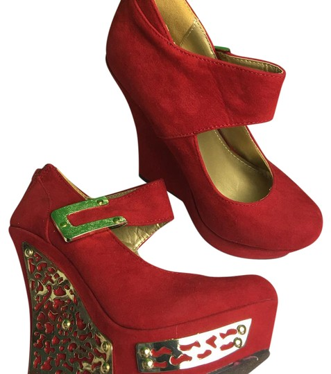 Preload https://item1.tradesy.com/images/liliana-red-metal-wedges-size-us-55-regular-m-b-21569500-0-1.jpg?width=440&height=440