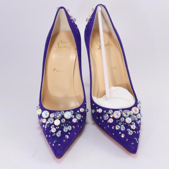 Christian Louboutin Candidate Strassed Crystal purple Pumps