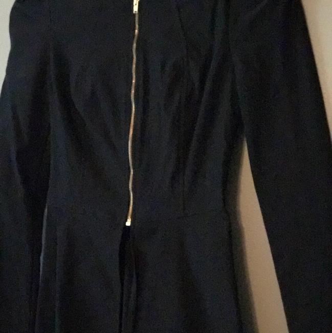 Windsor Zipper Stretchy Dressy Long Sleeve black Blazer
