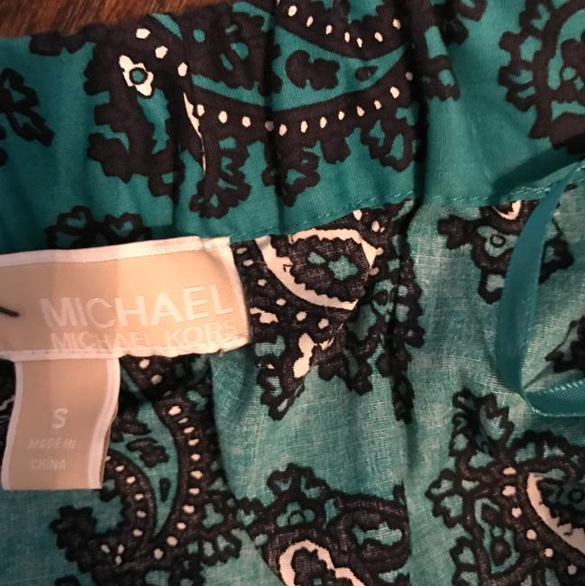 Michael Kors The Shoulder Casual Top turquoise paisley