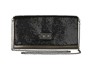 BCBGMAXAZRIA Black / Pewter Clutch
