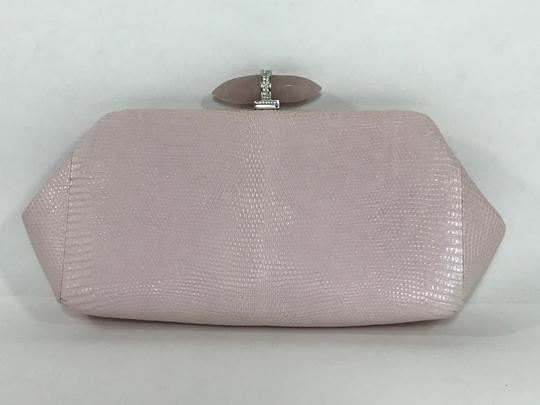 Judith Leiber Lizard Skin Evening Pink Clutch
