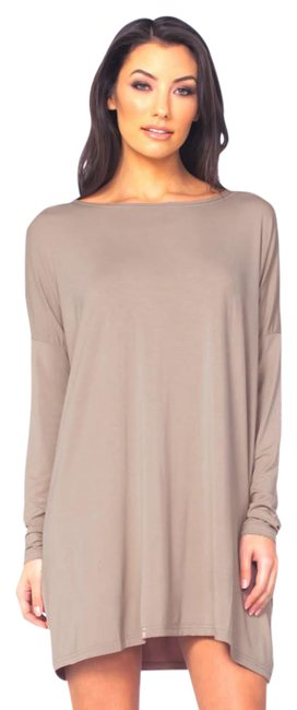 Item - Taupe T185102 Oversize Bamboo Dolman Tunic Size 10 (M)