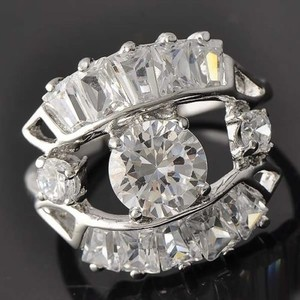 White Topaz Cocktail Right Hand Ring Free Shipping