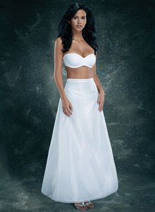 Merry Modes White 1368v Crinoline - Medium - Bridesmaid/Mob Dress Size 10 (M)