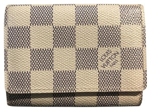 Louis Vuitton damier azur enveloppe cartes de visite card case holder