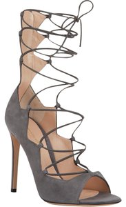 Gianvito Rossi Lace Up Strappy Jimmy Choo Gray Sandals