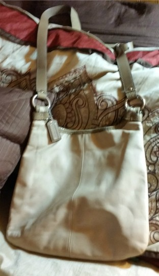Coach Leather Snakeskin Cross Body Bag