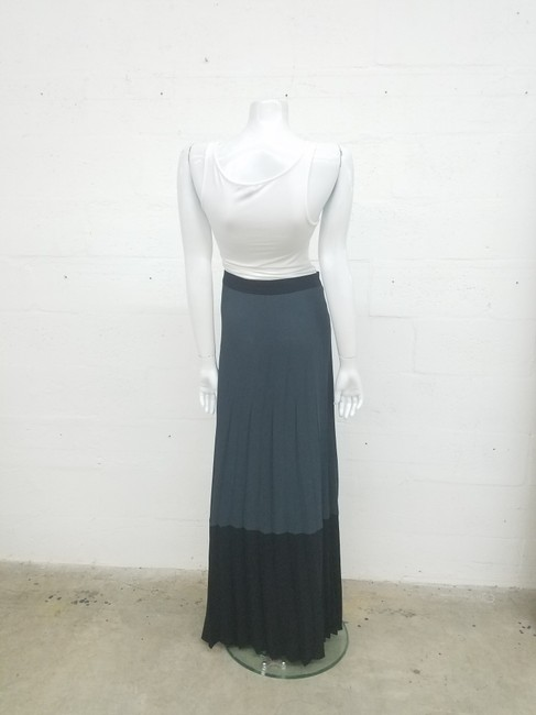 A.L.C. Wrap Color Maxi Skirt Black/Gray Image 1