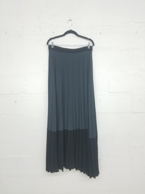 A.L.C. Wrap Color Maxi Skirt Black/Gray Image 2
