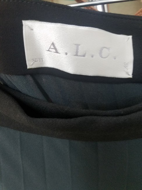A.L.C. Wrap Color Maxi Skirt Black/Gray Image 3