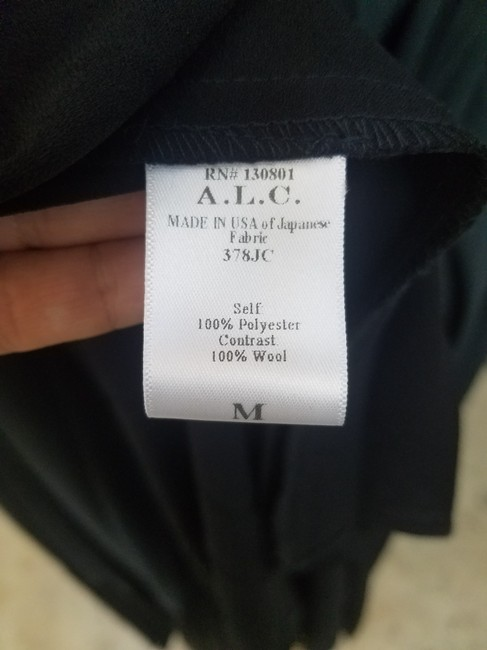 A.L.C. Wrap Color Maxi Skirt Black/Gray Image 4
