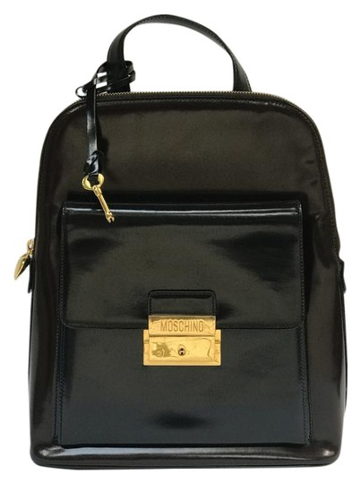 Preload https://item2.tradesy.com/images/moschino-with-gold-hardware-black-patent-leather-backpack-21570236-0-3.jpg?width=440&height=440