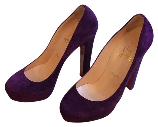 Christian Louboutin Ultra violet suede Platforms