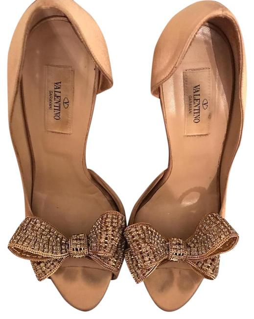 Item - Gold/Champagne D'orsay Pump with Bow Formal Shoes Size US 9 Regular (M, B)