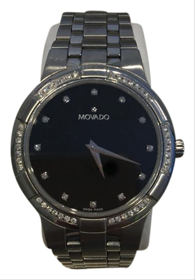 6775af974c2fa7 Movado Stainless Steel Metio Men's Diamond Watch - Tradesy