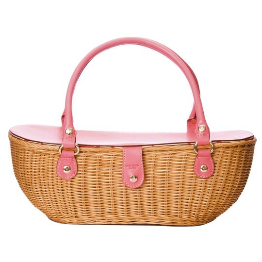 Kate Spade Wicker Purse Handbag Crab Tote