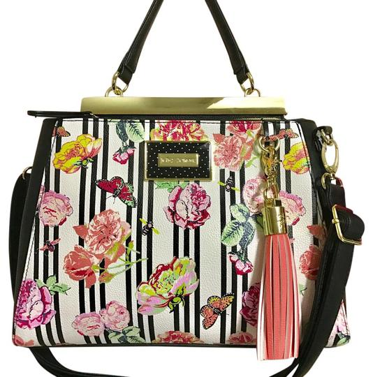 Preload https://item1.tradesy.com/images/betsey-johnson-floral-double-entry-multicolor-faux-leather-satchel-21570425-0-1.jpg?width=440&height=440