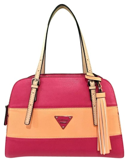 Preload https://img-static.tradesy.com/item/21570475/guess-higher-pink-multi-faux-leather-satchel-0-1-540-540.jpg