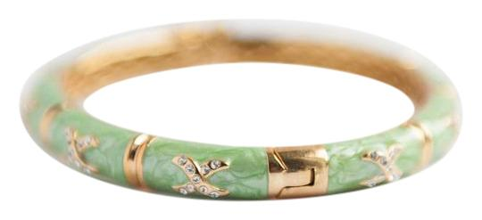 Preload https://item3.tradesy.com/images/green-bangle-bammbo-shape-with-crystal-encrusted-bracelet-21570482-0-2.jpg?width=440&height=440