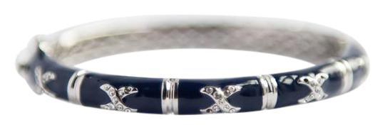 handmade High Jewelery Bangle bammbo shape with crystal encrusted