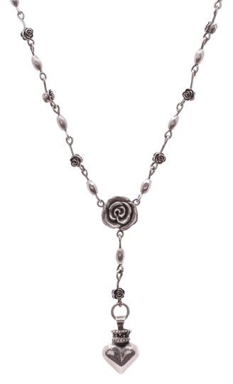 Preload https://img-static.tradesy.com/item/21570557/silver-sterling-roses-and-heart-rosary-necklace-0-1-540-540.jpg