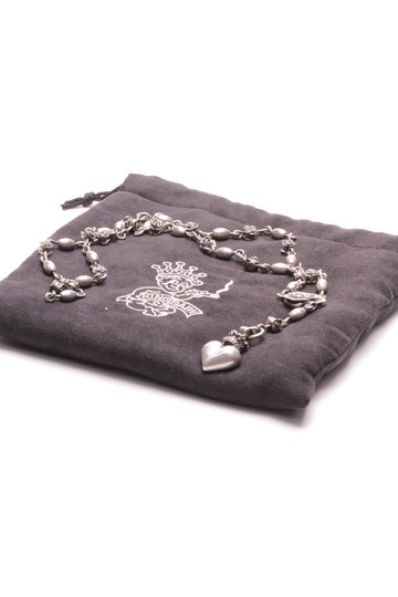 Queen Baby by King Baby Queen Baby by King Baby Sterling Silver Roses & Heart Rosary Necklace