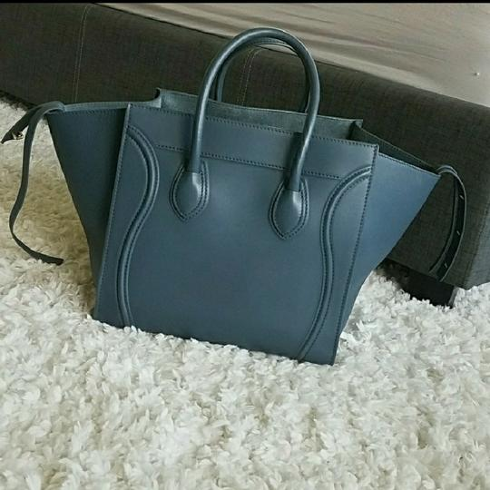 Céline Satchel in Antique blue