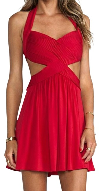 Preload https://item3.tradesy.com/images/bcbgmaxazria-red-hulter-backless-short-cocktail-dress-size-14-l-21570647-0-1.jpg?width=400&height=650