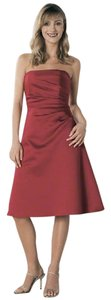 Alfred Angelo Satin Strapless Dress