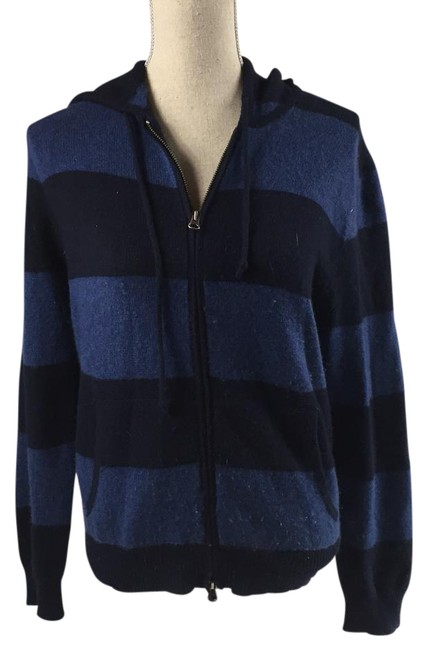 Preload https://item5.tradesy.com/images/jcrew-black-and-navy-italian-cashmere-sweatshirthoodie-size-6-s-21570734-0-1.jpg?width=400&height=650