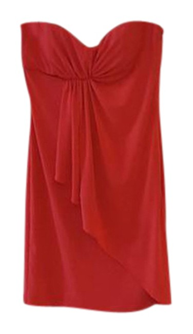 Preload https://img-static.tradesy.com/item/21570805/bcbgeneration-red-strapless-mid-length-cocktail-dress-size-0-xs-0-1-650-650.jpg