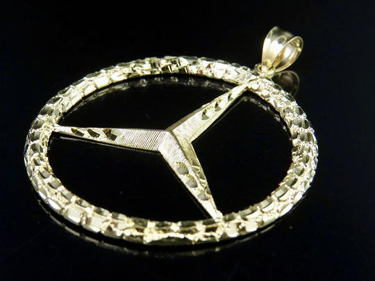 Other Men's 10K Yellow Gold Mercedes Nugget Logo Charm Pendant 2