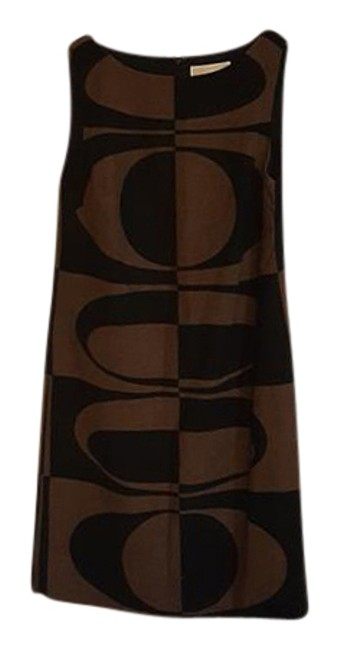 Preload https://item4.tradesy.com/images/michael-kors-brown-and-black-linen-sleeveless-mid-length-workoffice-dress-size-petite-4-s-21570948-0-1.jpg?width=400&height=650