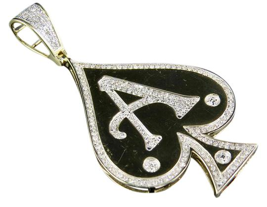 Preload https://item2.tradesy.com/images/10k-yellow-gold-men-s-genuine-diamond-aces-spade-pendant-12-ct-charm-21570996-0-1.jpg?width=440&height=440