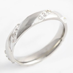 White Topaz Unique Eternity Style Wedding Band Free Shipping
