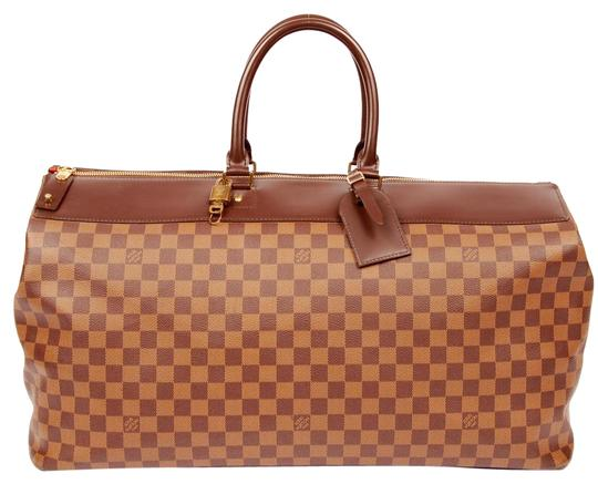 Preload https://item1.tradesy.com/images/louis-vuitton-greenwich-near-new-damier-gm-boston-brown-4768-canvas-weekendtravel-bag-21571085-0-4.jpg?width=440&height=440