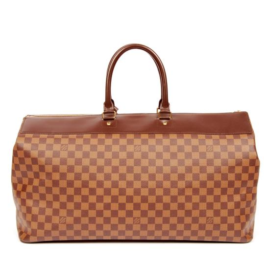 Louis Vuitton Greenwich Damier Canvas Canvas Luggage Vintage Brown Travel Bag