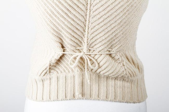 See by Chloé Checkered Knit Wool Sweater