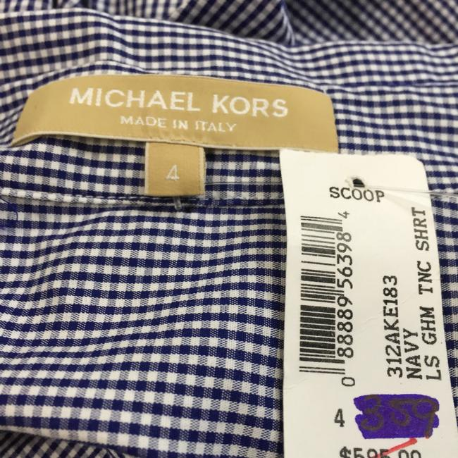 Michael Kors Button Down Shirt Navy and White pattern