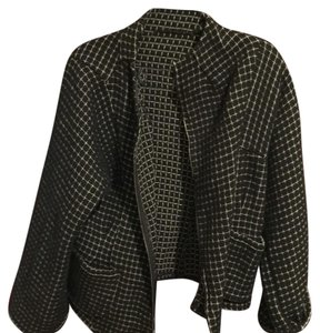 Babette black with white checks Blazer