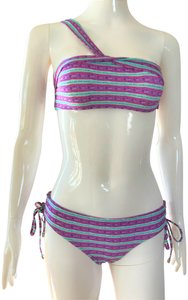 SHIMMI by Melissa Odabash NEW Swimsuit Lady Fashion S Small Top Bottom Shoulder Summer Two Piece