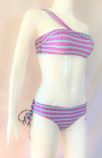SHIMMI by Melissa Odabash NEW Swimsuit Lady Fashion S Small Top Bottom Shoulder Summer Two Piece Image 1