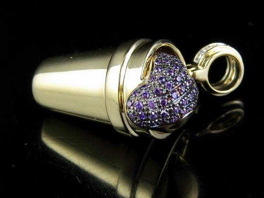 Other 10K Yellow Gold Genuine Diamond Purple Syrup Pendant Charm 1/2 Ct 1.1