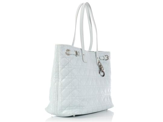 Dior Quilted Cd.l0314.04 Cannage Belted Tote in Light Blue