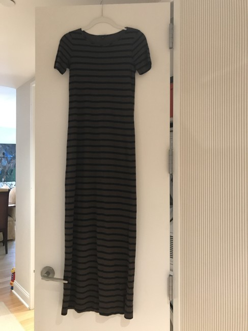 Item - Brown and Navy Long Casual Maxi Dress Size 4 (S)