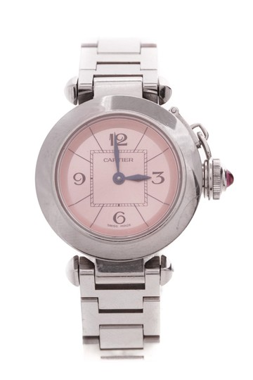 Preload https://item2.tradesy.com/images/cartier-silver-tone-stainless-steel-miss-pasha-watch-21571376-0-0.jpg?width=440&height=440